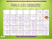 March 2013 Daily Decluttering