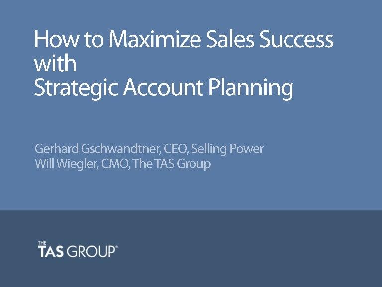 Strategic Account Plans  BesikEightyCo