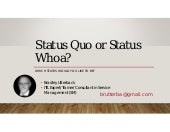 Status Quo or Status Whoa? with Brad Utterback, an ITSM Academy Webinar