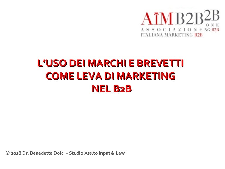 0075b5b9d4993f Marchi e brevetti come leva di marketing