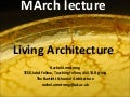 M Arch Living Architecture