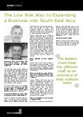The Low Risk Way to Expanding a Business into South East Asia - Fussell and Daniel Breese news release