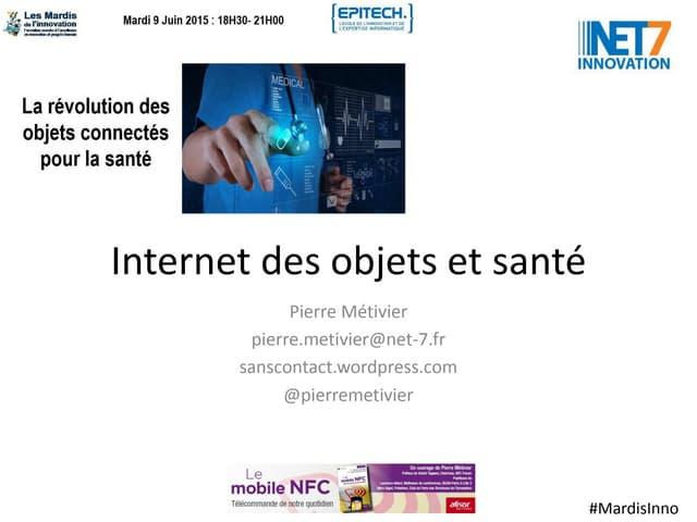 Internet des objets et santé aux Mardis de l'Innovation