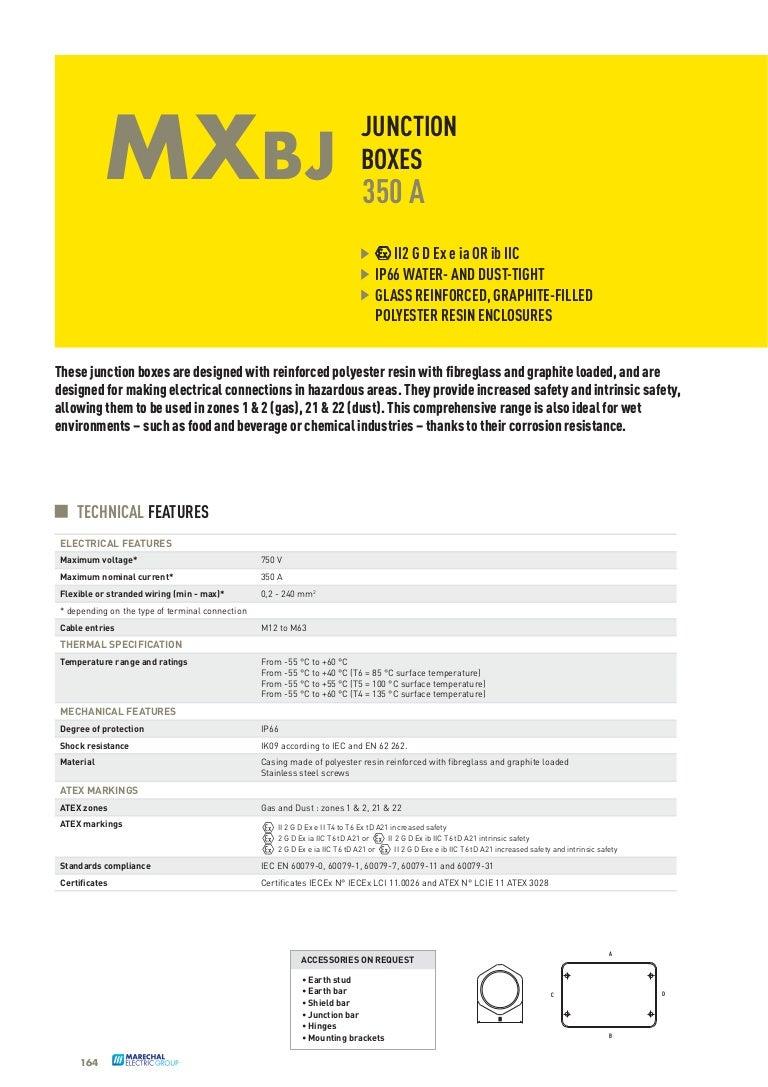 Marechal MXBJ Junction Boxes 35A - Marechal Junction Boxes