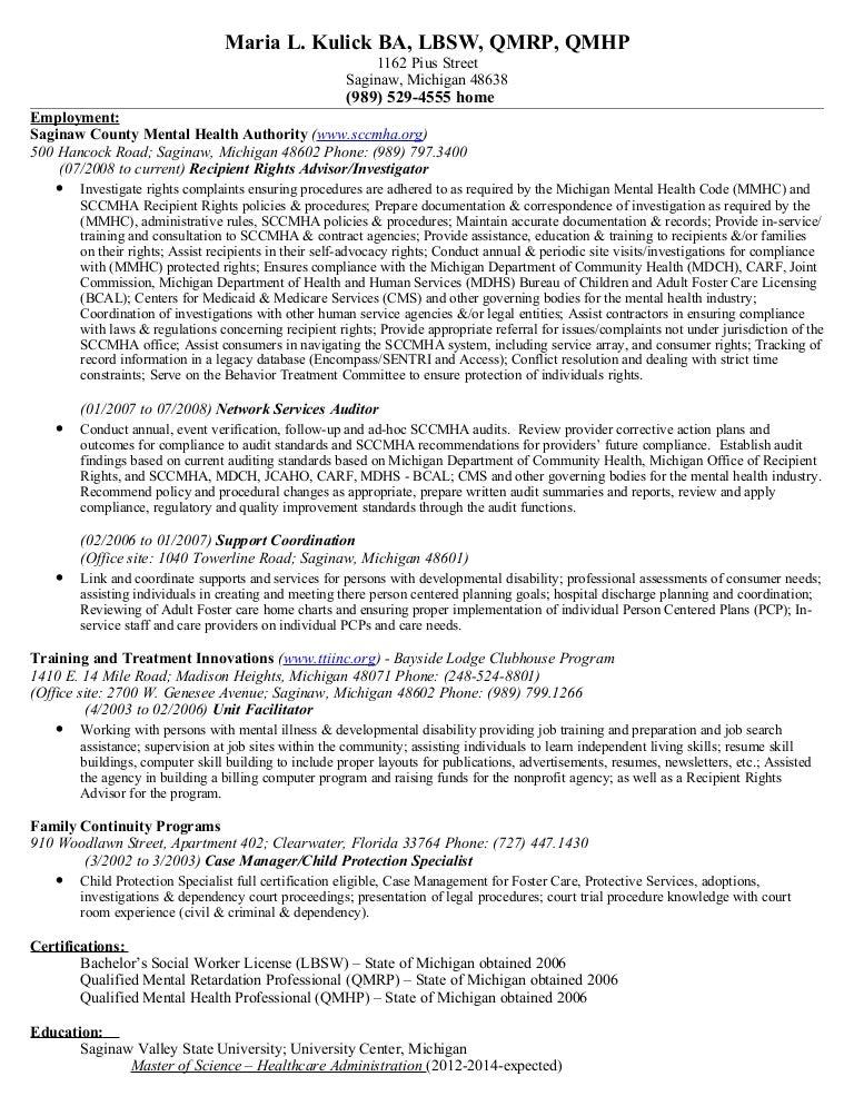 Maria L Kulick Resume 6 05 12