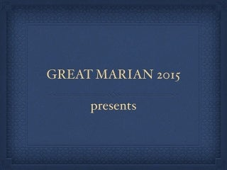 Marian pilgrimage May 2015