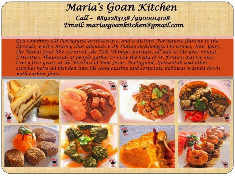 Maria S Goan Kitchen Menu