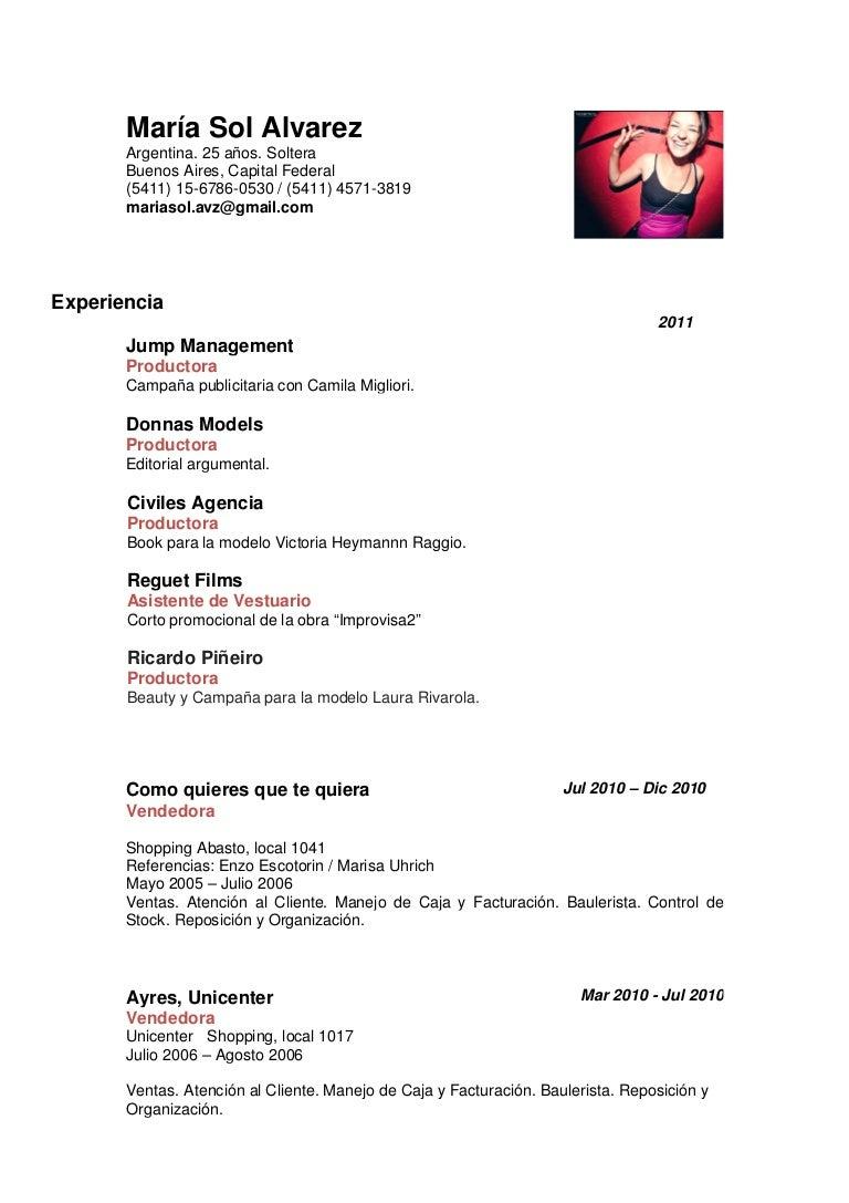 María Sol Alvarez | Curriculum Vitae