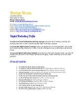 Digital Marketing Resume digital marketing manager resume samples Top 8 Digital Marketing Executive Resume Samples