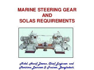 Marine Steering Gear and SOLAS Requirements