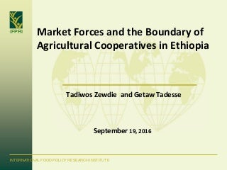 market forces and the boundary of agricultural cooperatives in ethiopia