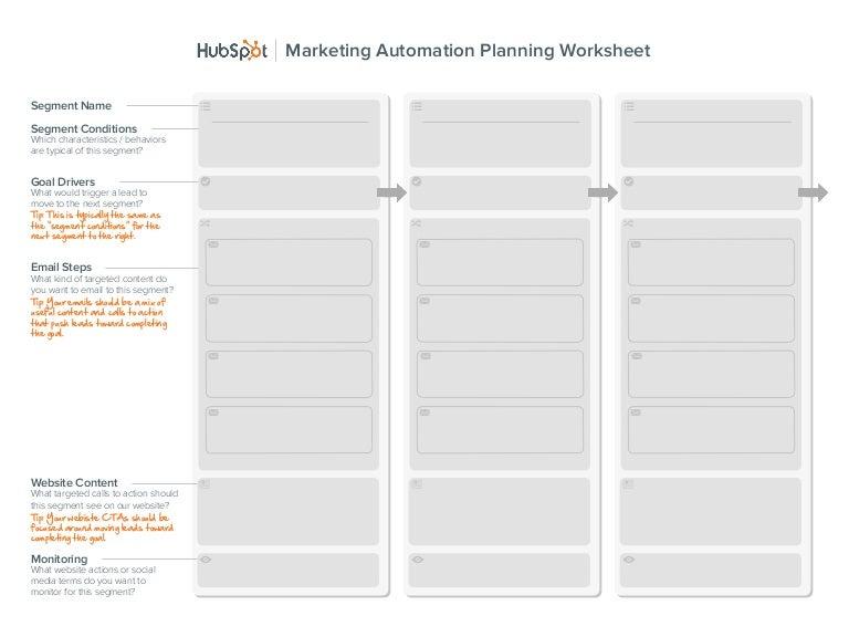 Marketing automationplanningworksheet – Website Planning Worksheet