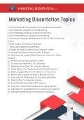 37 Marketing Dissertation Topics | Research Ideas