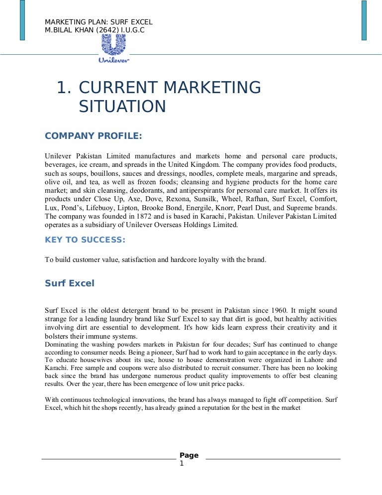 marketing plan for surf excel Surf excel ppt - free download as powerpoint presentation (ppt), pdf file (pdf), text file (txt) or view presentation slides online  marketing plan surf excel .