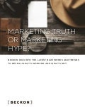 [Beckon report] Marketing truth-or-marketing-hype-beckon-report