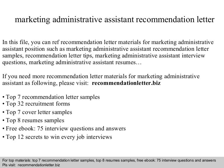 marketingadministrativeassistantrecommendationletter 140825093301 phpapp01 thumbnail 4jpgcb1408959206
