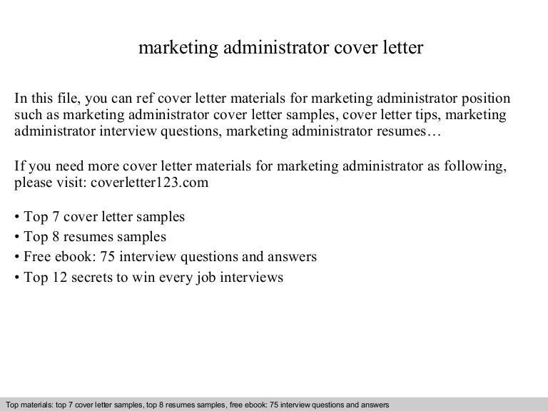 marketing administrator cover letter - Web Administrator Cover Letter