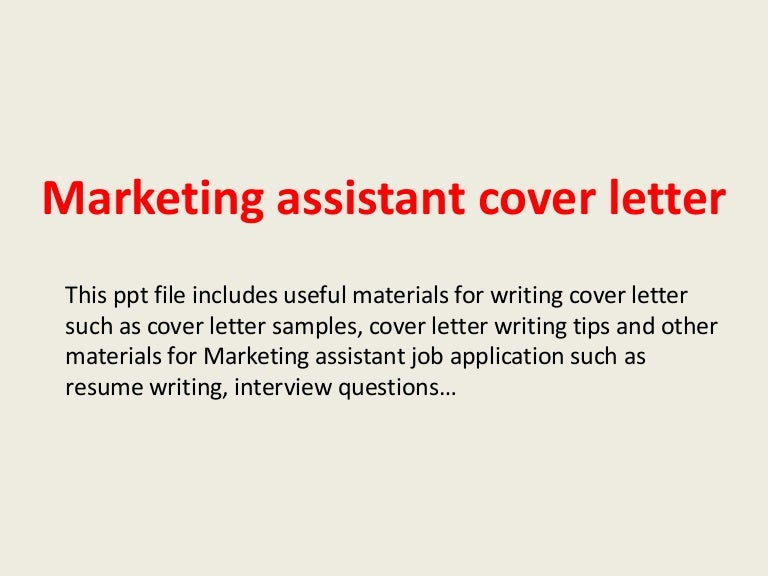 Marketingassistantcoverletter 140223195343 Phpapp01 Thumbnail 4gcb1393185248