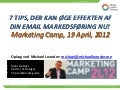 Email Marketing @ Marketing Camp i København