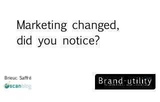 Marketing changed - brand utility