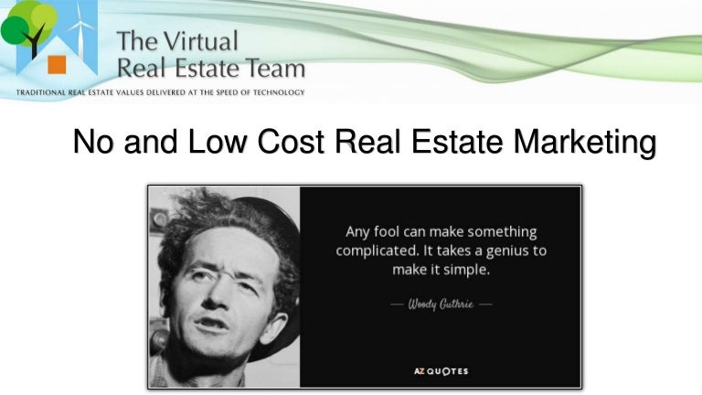 Low and no cost marketing in real estate reheart Choice Image