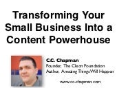 Transforming Your Business Into a Content Powerhouse