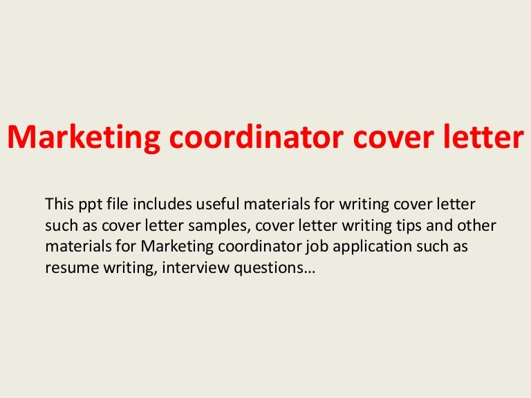 cover letter examples for marketing