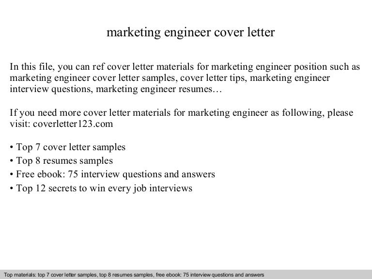 Marketing engineer cover letter