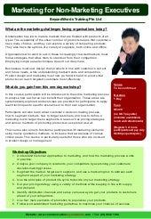 Marketing for non marketing executives