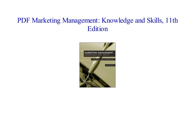 Marketing management knowledge and skills 11th edition read [pdf].
