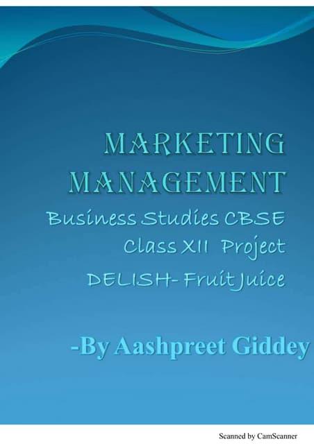 Marketing Management Project On Hair Oil Class 12th By Faizan Khan