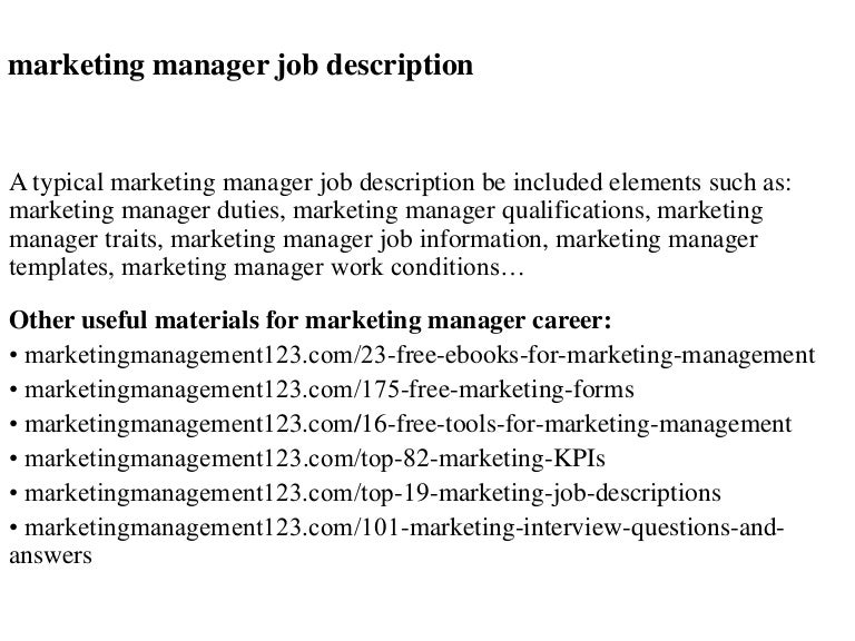 Logistics manager job description typical job description duties marketing manager job description pronofoot35fo Choice Image
