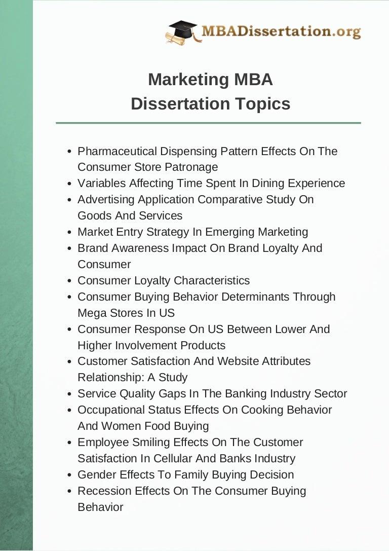 financial dissertation topics