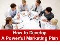 Marketing plan ppt slides