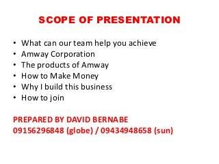 Amway business plan presentation