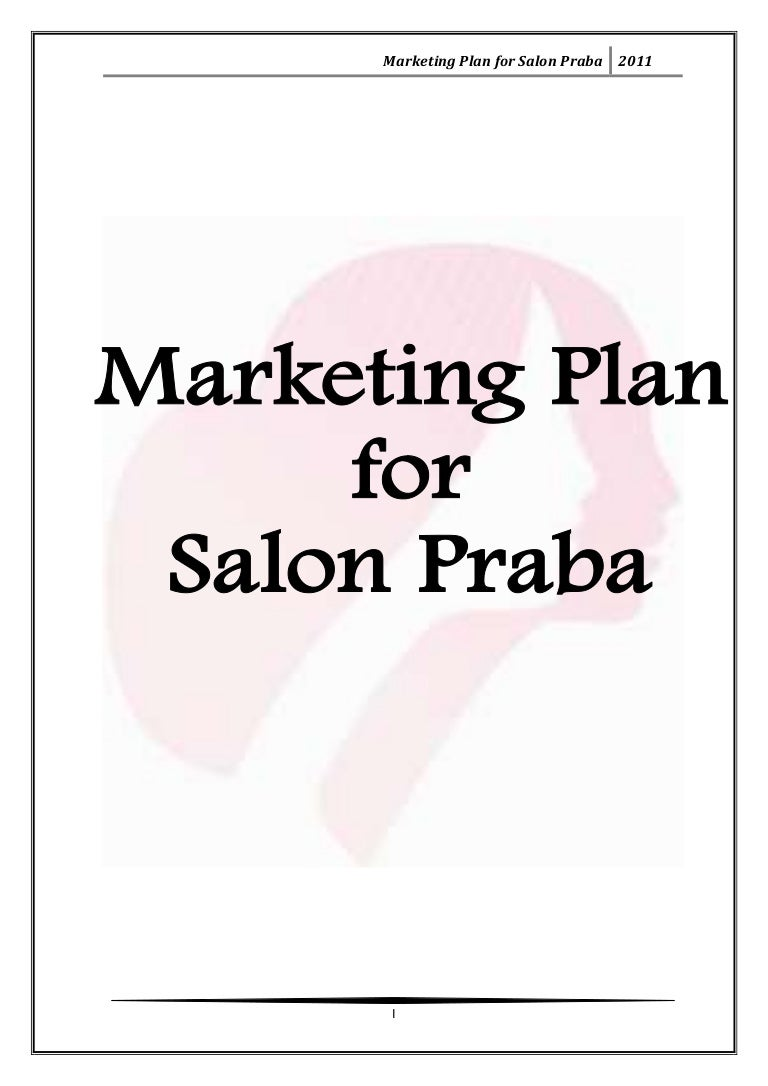 Marketing plan for salon praba