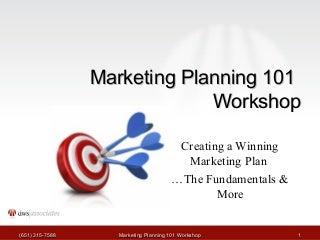 Marketing Planning Tutorial
