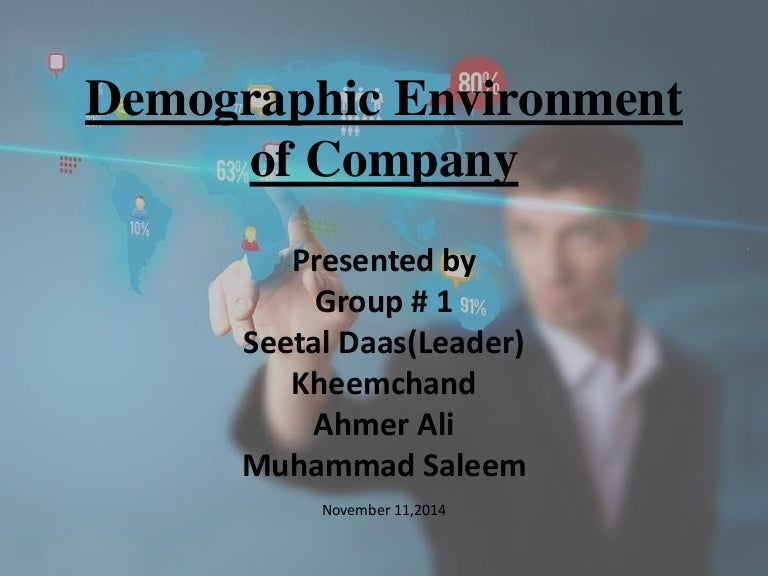 Marketing Presentation(Demographic Environment Of Company)