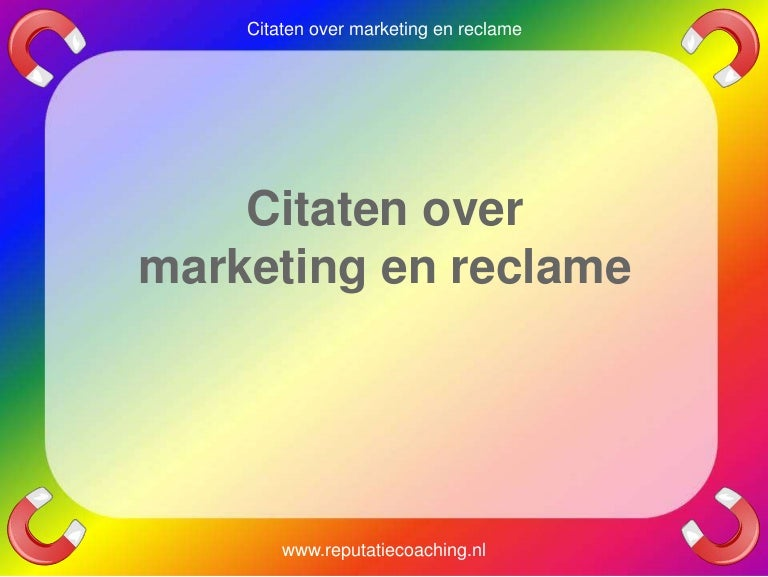 Fabulous Marketing quotes reclame citaten adverteren spreuken oneliners aforis… @HT24