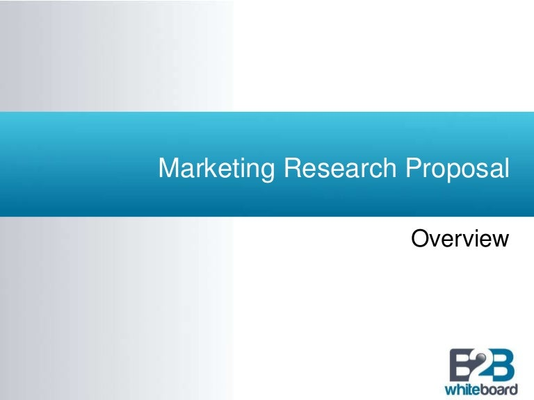 RUNNING HEAD  Market Research Proposal