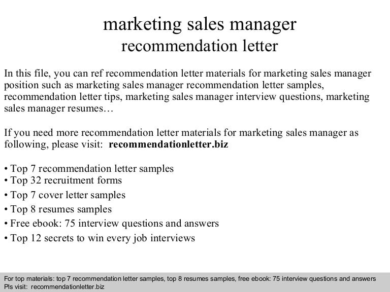 Marketing recommendation letter sample kubreforic marketing recommendation letter sample expocarfo Images