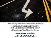 Marketing social media for trading investmen industry Dinis Guarda