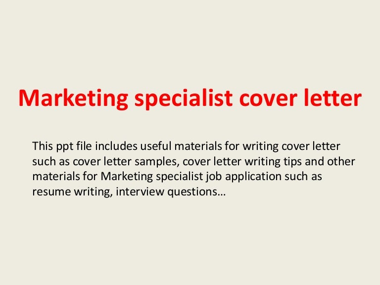 Awesome Web Marketing Specialist Cover Letter Gallery - Printable ...