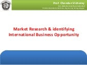 Market Research & International Business Opportunity