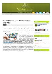 Market Your App in All Directions with ASO