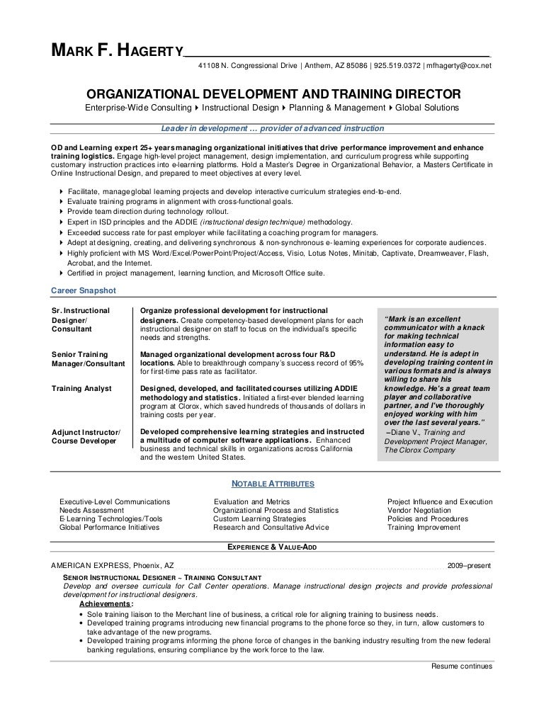 Mark F Hagerty Od Training Director Resume