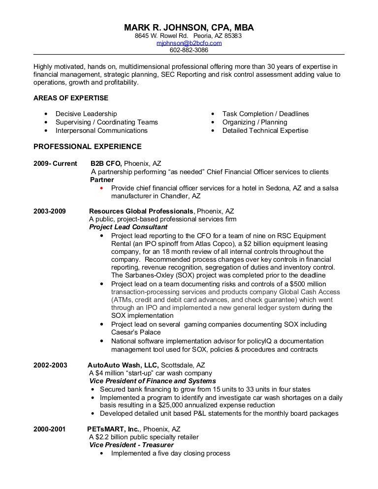 Mark Johnsons Resume