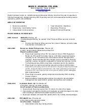 mark johnson s resume