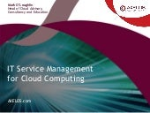 IT Service Management and Cloud Computing - AXELOS Webinar