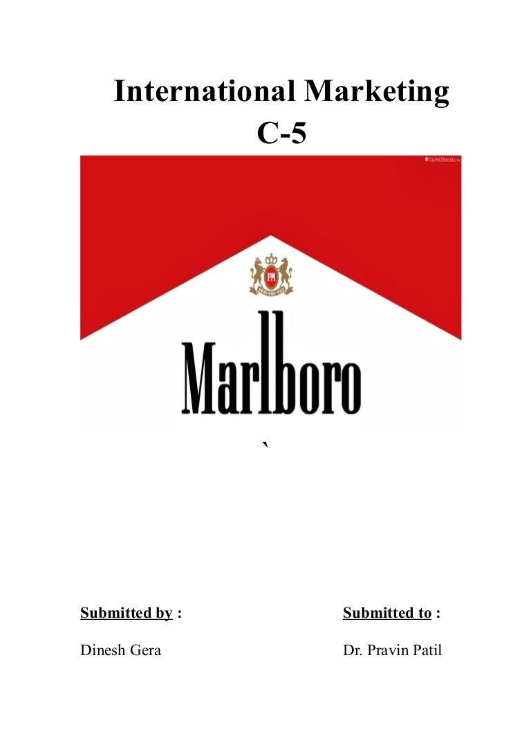 Marlboro International Marketing Black 20